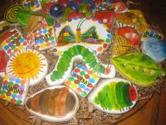 The Very Hungry Caterpillar Cookies