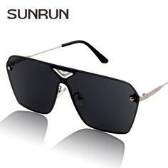 SUNRUN Rectangle Men's Sunglasses