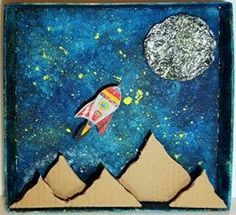 Creation Preschool Craft, Preschool Crafts, Space Crafts For Kids, Art For Kids, Outer Space Crafts, Space Projects, Art Projects, Box Creative, Planet Crafts