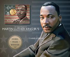 Post stamp Solomon Islands SLM 14514 b50th anniversary of Martin Luther King Jr.'s Nobel Peace Prize Acceptance Speech