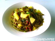 pamelopee: Rezept: Warmer Specksalat mit grünen Bohnen und frischem Majoran