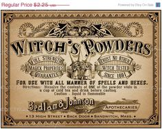 Apothecary Label Halloween Witch Potion Vintage by chocolaterabbit, $1.98