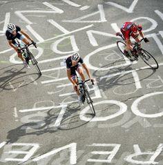 French Alps. Alpe d'Huez. Andy Schleck, Frank Schleck & Cadel Evans. Tour de France 2011