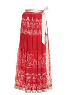 Floral-print pleated wrap skirt | Etro | MATCHESFASHION.COM US