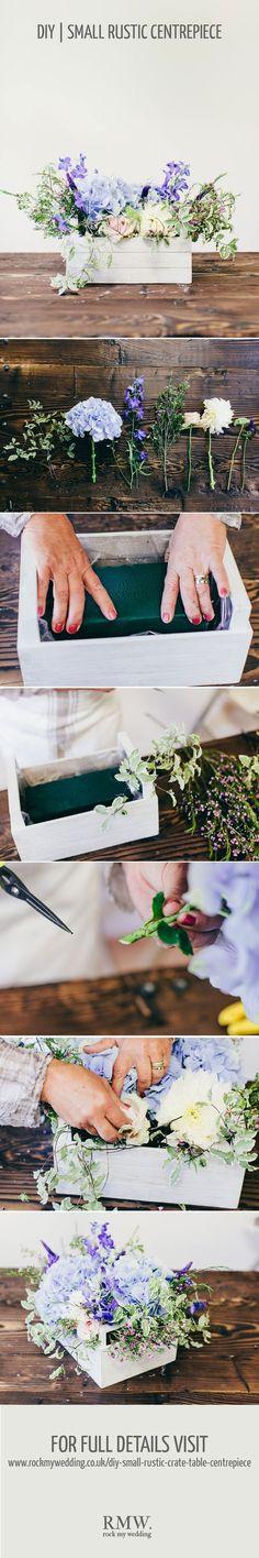 Rustic crate wedding centerpiece DIY tutorial
