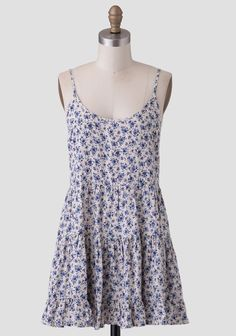 Calm Morning Tiered Dress | Modern Vintage Clothing | Ruche