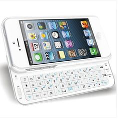 Ultra-thin Slide-out Wireless Keyboard for #iPhone 5