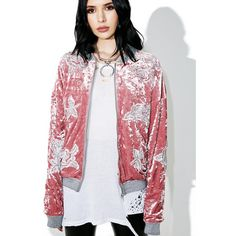 Primrose Path Jacket ($110) ❤ liked on Polyvore featuring outerwear, jackets, blouson jacket, bomber jacket, flight jacket, pink jacket and honey punch