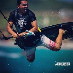 #Kiteboarding at #SurfClubKeros, #Limnos island, Greece. #keros #arteliz #sck #closeup #action #extreme #happy #summer