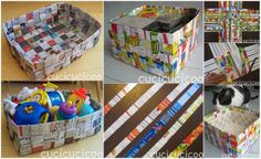 How To Make Baskets From Recycled Paper