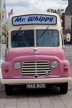 "Whippy Mr Whippy in Liverpool ~ ""enjoy a soft ice cream"".Mr Whippy in Liverpool ~ ""enjoy a soft ice cream"". British Summer, British Seaside, English Summer, 1970s Childhood, My Childhood Memories, Pillos, Ice Cream Van, Kiwiana, Thing 1"