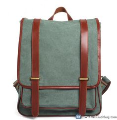 $86.99 Classic Canvas BackpackLeather Canvas Bag Laptop Bag