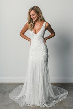 The Dominique wedding dress by Grace Loves Lace featured on LOVE FIND CO. #weddingdress