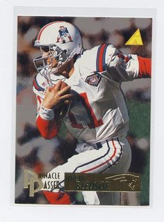 5a2dce58134 Drew bledsoe 1995 pinnacle passer  196 new england patriots