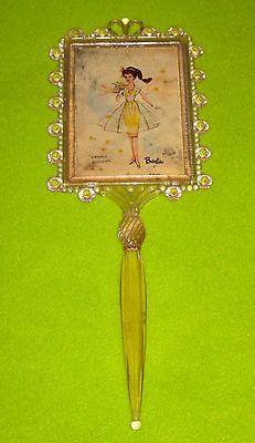 Vintage RARE 1964 Barbie Mattel Hand Held Life Sized Mirror Orange Blossom Pink | eBay