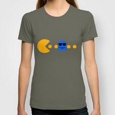 Pacman - The Ghosts - Inky T-shirt by Sberla - $18.00