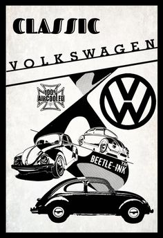 Best classic cars and more! Mike Giant, Vw T, Car Volkswagen, Logos Vintage, Vintage Advertisements, Vintage Cars, Vw Logo, Mobile Art, Best Classic Cars