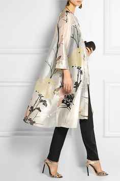 BIYAN Aunne printed silk-organza dress £1,610 |AGNONA top £565 | BOTTEGA VENETA clutch £1,070 | JIMMY CHOO sandals £595