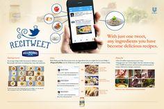 Hellmann's // ReciTweet - Giovanni Muratori Food Advertising, Creative Advertising, Concept Board, 8th Of March, Play Hard, Case Study, App Design, Branding, Chart