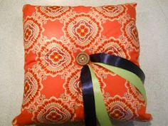 Ringbearer Pillow made with VB cloth napkins --- is it me or does this screem Heather's name?