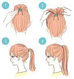 How to make your ponytail pop with two bobby pins (not like the normal style 3 but 4 of the picture)