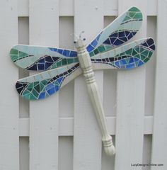 Table Leg Dragonflies with Stained Glass Mosaic Wings, Yellow Fleur De Lis Wings, Graffiti Wings, Glass Beaded Wings, a Chair Leg Butterfly and More