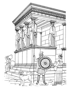 Wonderful Image of Temple Coloring Page Temple Coloring Page Erechtheion Temple Coloring Page Free Sightseeing Coloring Pages Jesus Coloring Pages, Super Coloring Pages, Animal Coloring Pages, Free Printable Coloring Pages, Coloring Pages For Kids, Ancient Egypt For Kids, Ancient Egyptian Art, Ancient Greece, Greek History