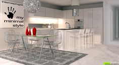 Photorealistic Render - Kitchen open space