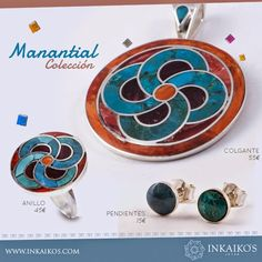COLECCIONES | INKAIKO'S Ethnic Jewelry, Resin Jewelry, Jewerly, Enamel, Rings, Silver, Necklaces, Enamels, Emboss