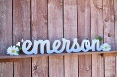 Emerson Nursery Baby Name Sign Wood - Nursery, Baby Name, Children's Name, Home Decor by lucysletters123 on Etsy