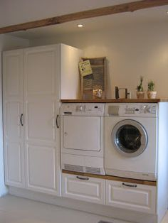 ideas for bathroom closet remodel laundry rooms Blue Laundry Rooms, Laundry Room Cabinets, Laundry In Bathroom, Bathroom Closet, Interior Design Living Room, Living Room Designs, Küchen Design, House Design, Bathroom Colors Gray