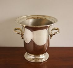 Large vintage silver ice bucket or champagne by highstreetmarket