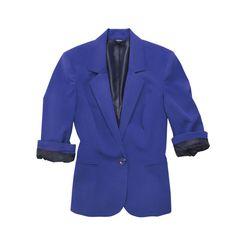 Veste en polyester et rayonne, de Reitmans. 60$. Info: reitmans.com Quebec, Suit Jacket, Breast, Women's Fashion, Blazer, Suits, Shopping, My Style, Jeans