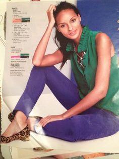 Green, blue & leopard - love the color combination