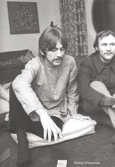 1967 – George birthday party, with David Crosby