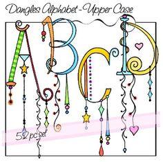 Dangles alphabet A-D Doodle Alphabet, Alphabet Art, Letter Art, Alphabet Fonts, Doodle Lettering, Creative Lettering, Lettering Styles, Typography, Doodles Zentangles