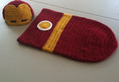 Iron Man Baby Cocoon Set PDF PATTERN by crochetherodesigns on Etsy https://www.etsy.com/listing/235217461/iron-man-baby-cocoon-set-pdf-pattern