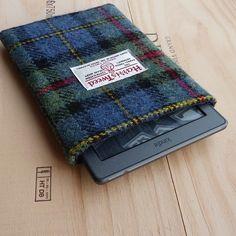 Harris Tweed Kindle Voyage sleeve in mini MacLeod tartan, handwoven in Scotland £23.00