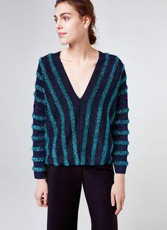 Striped sweater - View all - Knitwear - Ready to wear - Uterqüe United Kingdom