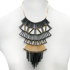 Deco Drop Fan Statement Necklace