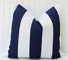 Blue Pillow.Decorative Pillow Cover.Navy by MariaClaireInteriors
