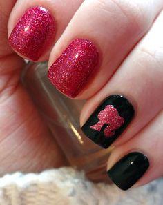 Pink Glitter Barbie Nails