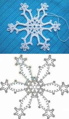Wonderful DIY Crochet Snowflakes With Pattern Crochet snowflake chart Crochet Snowflake Pattern, Crochet Stars, Crochet Motifs, Crochet Snowflakes, Crochet Diagram, Crochet Doilies, Crochet Flowers, Crochet Stitches