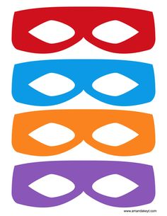 Masks from TMNT Teenage Mutant Ninja Turtle Inspired Printable Photo Booth Prop Set