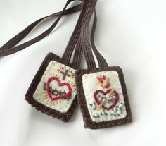 hand-embroidered scapular