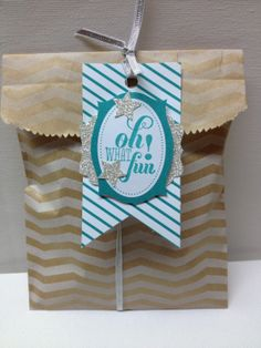 packaging for my hostess gift from my workshop last week. She loved the cute tag.