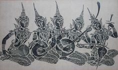 Angkor Wat Temple Rubbing Battle Of Lanka Demon King Ravana Vs Rama