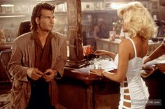 Road House - Publicity still of Patrick Swayze & Julie Michaels. The image measures 3031 * 2018 pixels and was added on 22 August Bruce Lee, Roadhouse Movie, Patrick Swayze Movies, Patrick Swazey, Kelly Lynch, Lisa Niemi, Patrick Wayne, Jennifer Grey, Challenger Rt