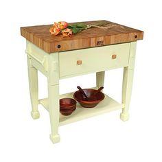 John Boos 36-inch Jasmine Block Work Table JB-JAS36243 $1059.00