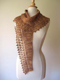 Knitting: Streusel Pattern Scarf.-pretty